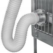 Durchführung für Wärmeschlauch in SHOR-LINE Käfige