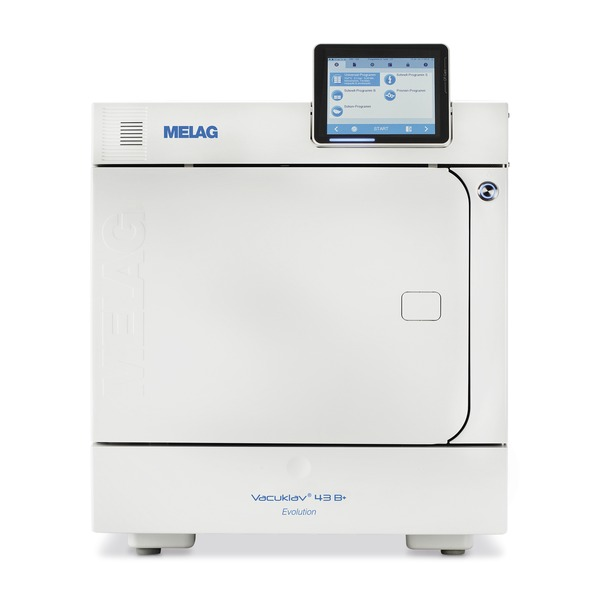 MELAG Vacuklav 43 B+ Evolution Stand alone (inkl. Tabletthalterung und Tablett)